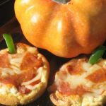Halloween Mini Pizzas