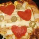 Valentine's Day Mini Pizzas