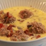 Cheesy Meatball Soup