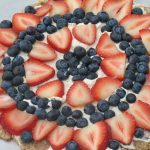 Red White & Blue Dessert Pizza