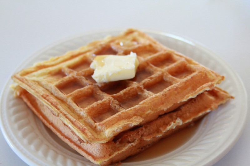 These waffles were actually a bit of a mistake. An error. A boo boo ...