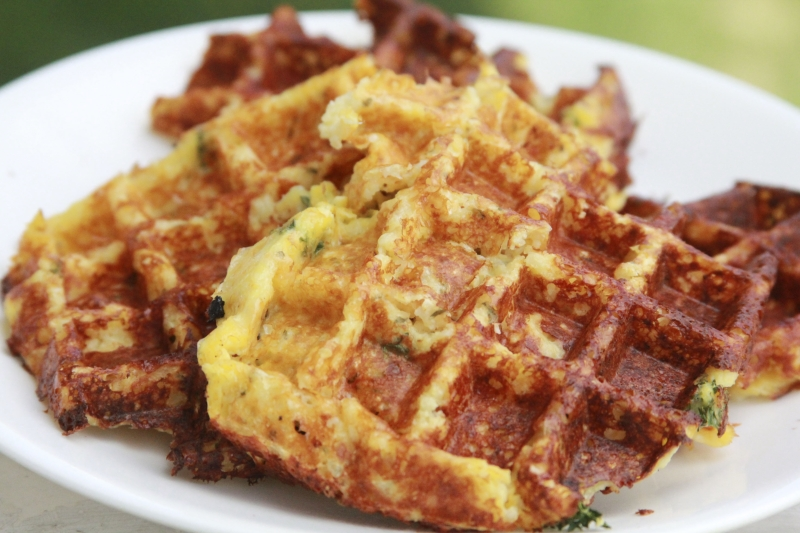 Savory Cheese Chive Waffles | Your Lighter Side