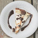 Low-Carb Chocolate Peanut Butter Cookie Pizza