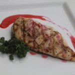 Grilled Chicken with Raspberry Sauce