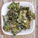 Roasted kale chips, four ways