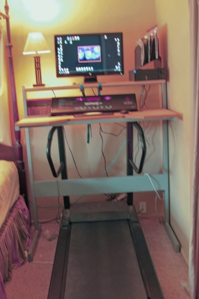 the treadmill desk and my new balance your lighter side. Black Bedroom Furniture Sets. Home Design Ideas